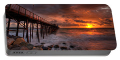 Oceanside Pier Perfect Sunset -ex-lrg Wide Screen Portable Battery Charger