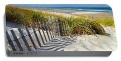 Portable Battery Charger featuring the photograph October Beach by Dianne Cowen