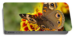 Portable Battery Charger featuring the photograph October Garden by Nava Thompson