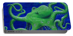 Portable Battery Charger featuring the painting Octohawk by Rebecca Parker