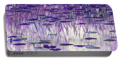 Ode To Monet In Purple Portable Battery Charger