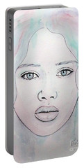 Of Colour And Beauty - Blue Portable Battery Charger by Malinda Prudhomme