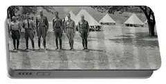 Officers At Camp Newayo, New York State Portable Battery Charger