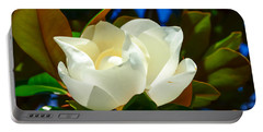 Oh Sweet Magnolia Portable Battery Charger by Debra Martz