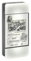 Ohio Sesquicentennial Poster Portable Battery Charger