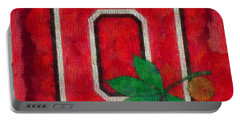 Ohio State Buckeyes On Canvas Portable Battery Charger by Dan Sproul