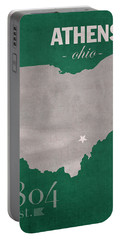 Ohio University Athens Bobcats College Town State Map Poster Series No 082 Portable Battery Charger