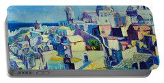 Portable Battery Charger featuring the painting OIA by Ana Maria Edulescu