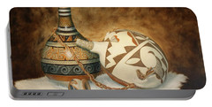 Oil Painting - Indian Pots Portable Battery Charger
