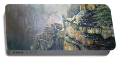 Oil Painting - Majestic Canyon Portable Battery Charger