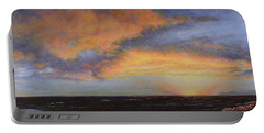 Oil Painting When The Sky Turns Color Portable Battery Charger