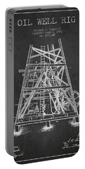 Oil Well Rig Patent From 1893 - Dark Portable Battery Charger by Aged Pixel