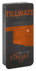 Oklahoma State University Cowboys Stillwater College Town State Map Poster Series No 084 Portable Battery Charger