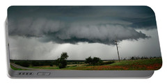 Oklahoma Wall Cloud Portable Battery Charger by Ed Sweeney