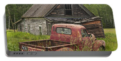 Old Abandoned Homestead And Truck Portable Battery Charger