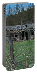 Portable Battery Charger featuring the photograph Old Abandoned Homestead Cabin Art Prints by Valerie Garner