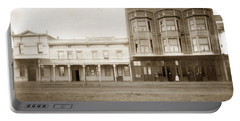 Old And New Salinas Hotel Was On West Market Street Circa 1885 Portable Battery Charger