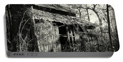 Old Barn In Black And White Portable Battery Charger