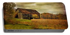 Old Barn In October Portable Battery Charger