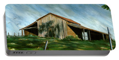 Old Barn Landscape Art Pleasant Hill Louisiana  Portable Battery Charger