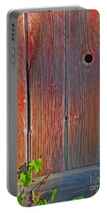 Portable Battery Charger featuring the photograph Old Barn Wood by Ann Horn