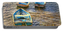 Portable Battery Charger featuring the photograph Old Bermuda Rowboats by Verena Matthew