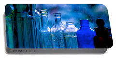 Old Blue Glass Bottles In The Window... Portable Battery Charger