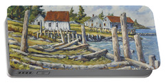Old Boat Ramp Maine By Prankearts Portable Battery Charger