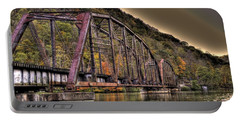 Old Bridge Over Lake Portable Battery Charger by Jonny D