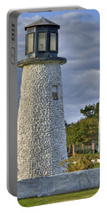 Old Buckroe Lighthouse Portable Battery Charger by Jerry Gammon