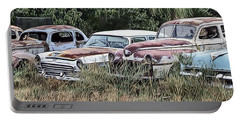 Old Car Graveyard Portable Battery Charger