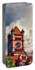 Old Dupage County Courthouse Clouds Portable Battery Charger