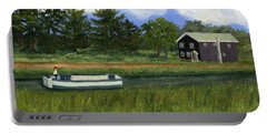 Portable Battery Charger featuring the painting Old Erie by Lynne Reichhart
