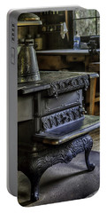 Old Farm Kitchen And Wood Burning Stove Portable Battery Charger