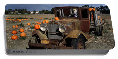 Portable Battery Charger featuring the photograph Old Farm Truck by Michael Gordon