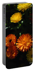 Old-fashioned Marigolds Portable Battery Charger by Martin Howard