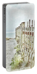 Old Fence To The Sea  Portable Battery Charger