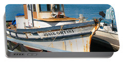 Portable Battery Charger featuring the photograph Old Fishing Boat In Sausalito by Connie Fox
