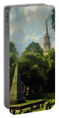 Old Granery Burying Ground Portable Battery Charger by Jeff Kolker