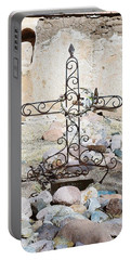 Portable Battery Charger featuring the photograph Old Gravestone Marker by Kerri Mortenson