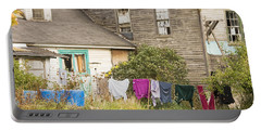 Old House With Laundry Portable Battery Charger by Keith Webber Jr