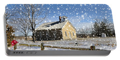 Portable Battery Charger featuring the photograph Old Kansas Schoolhouse by Liane Wright