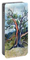 Old Madrone Tree In November  Portable Battery Charger by Asha Carolyn Young