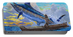 Old Man And The Sea Off00133 Portable Battery Charger by Carey Chen