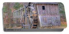 Old Mill Water Wheel And Sluce Portable Battery Charger