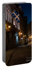 Old Montreal At Night Portable Battery Charger by Cheryl Baxter