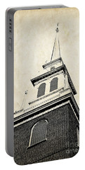 Old North Church In Boston Portable Battery Charger