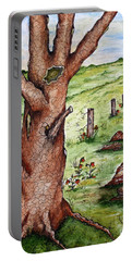 Old Oak Tree With Birds' Nest Portable Battery Charger