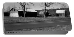 Old Red Barn In Black And White Portable Battery Charger by Amazing Photographs AKA Christian Wilson