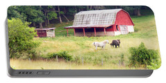 Old Red Barn West Of Brevard Nc Portable Battery Charger